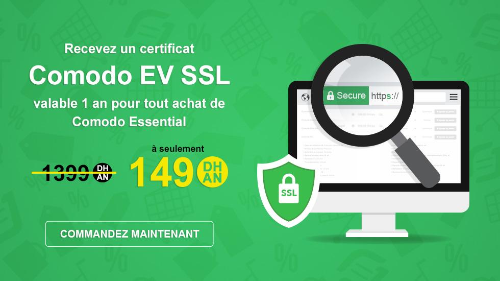 Certificat SSL Comodo EV gratuit